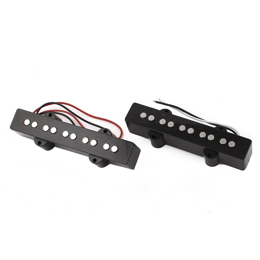 2 Pcs Electric 5 String Jazz Bass JB Style Soap Bar Pickup Black