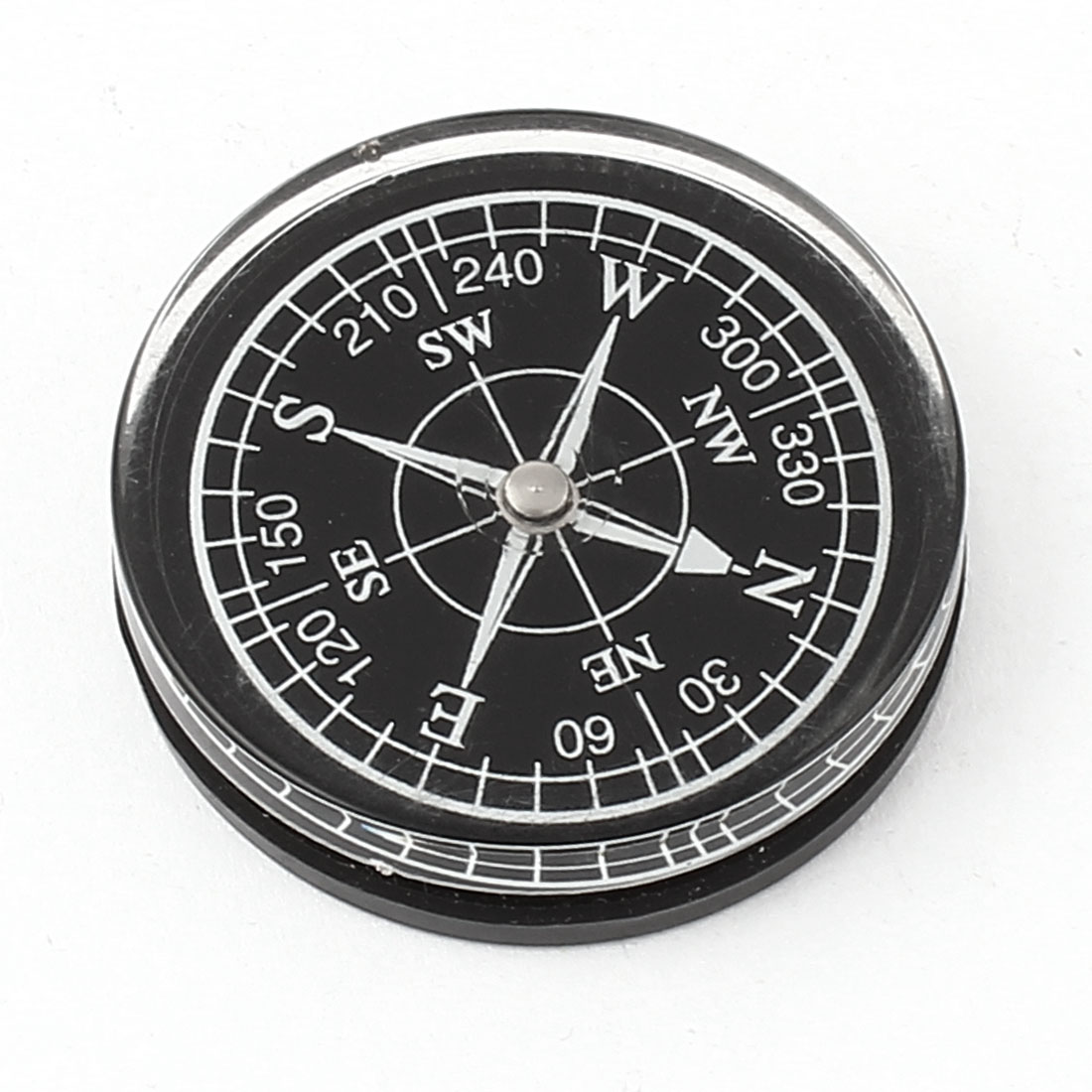 "1.6"" Dia Round Dial Portable Sensitive Compass for Outdoor Hiking Camping"