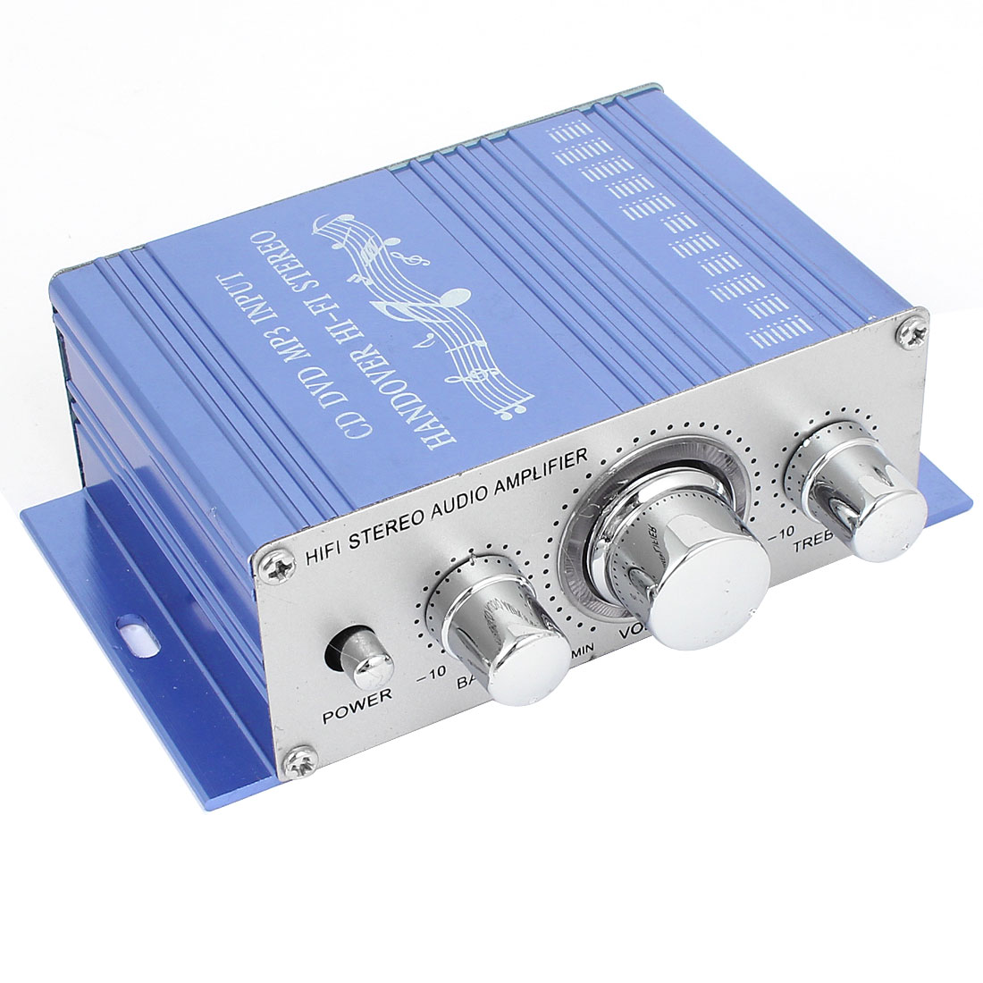 DC 12V 40W Car Blue Aluminum Mini Hifi Stereo Audio Power Amplifier