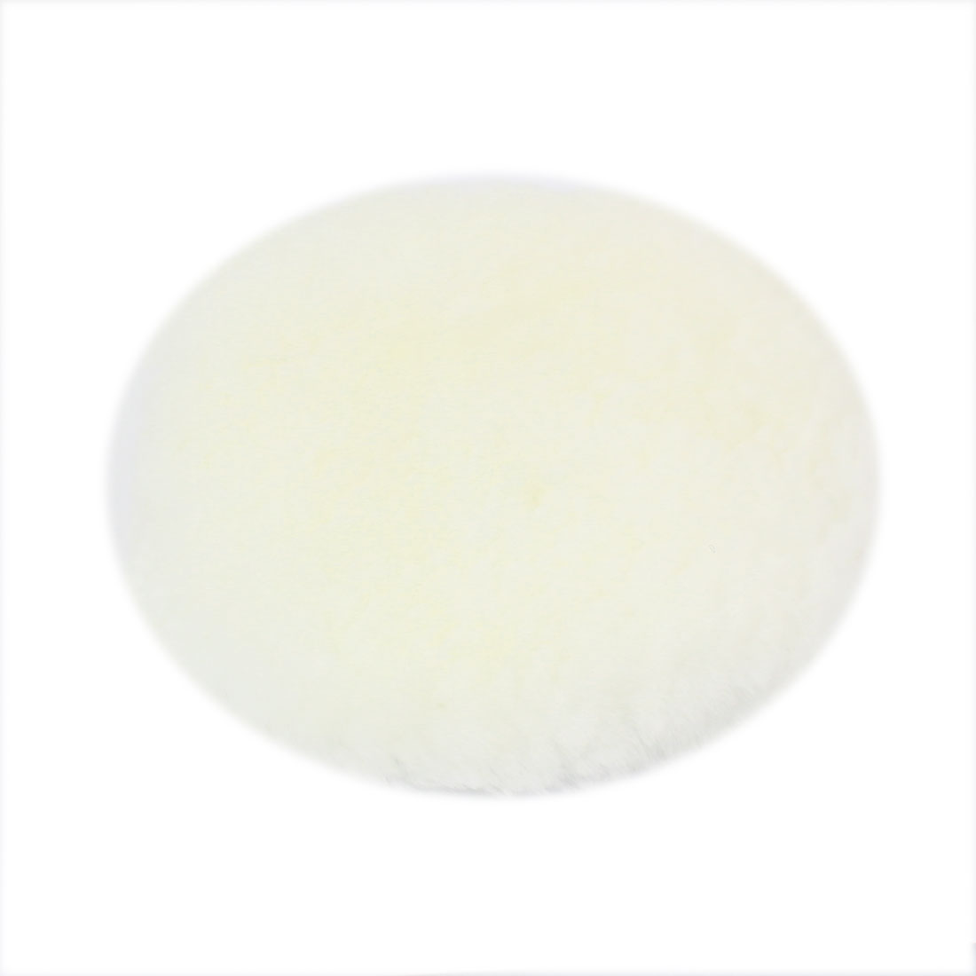 "White Faux Wool Buffing Pad Detailing Polishing Buffer 5"" Dia for Car"