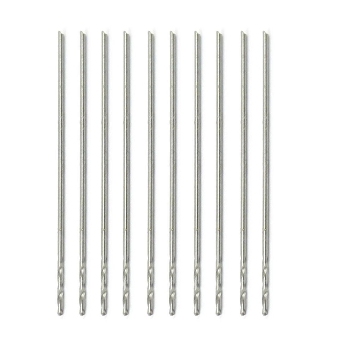 High Speed Steel 0.4mm Dia Split Point 20mm Long Twist Drill Bits 10 Pcs