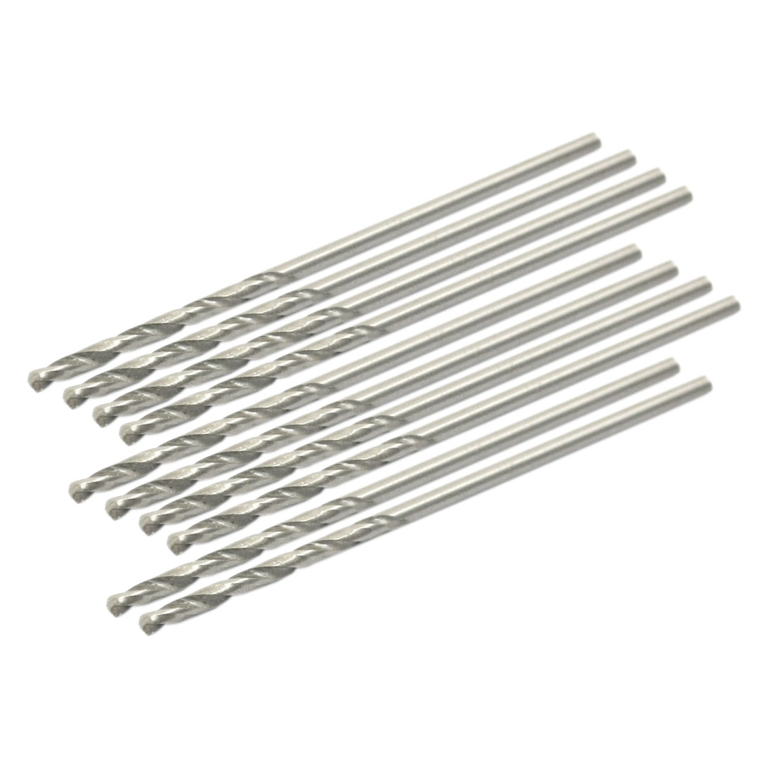 High Speed Steel 1.15mm Dia Split Point 36mm Long Twist Drill Bits 10 Pcs