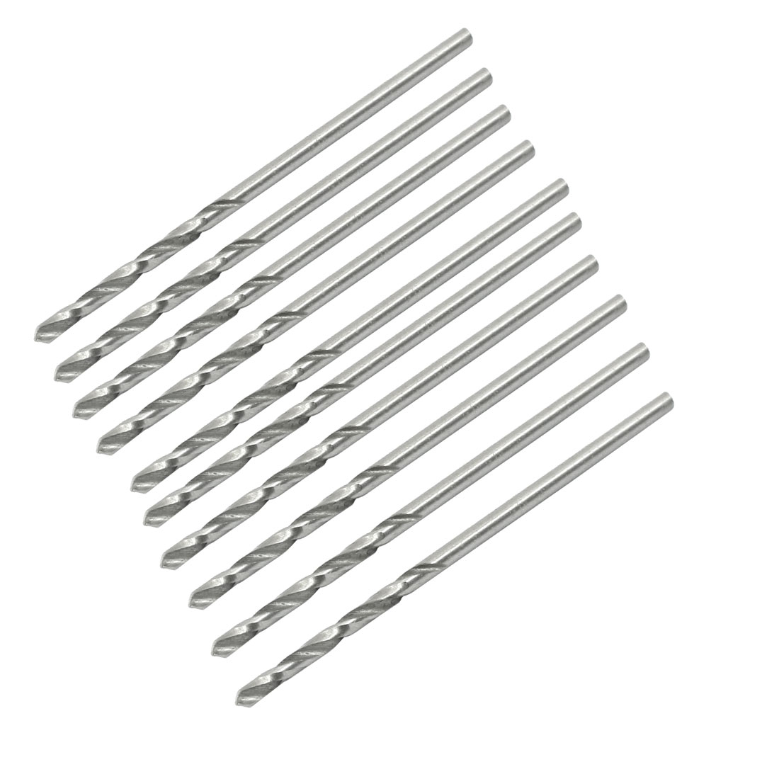 High Speed Steel 1.4mm Dia Split Point 40mm Long Twist Drill Bits 10 Pcs