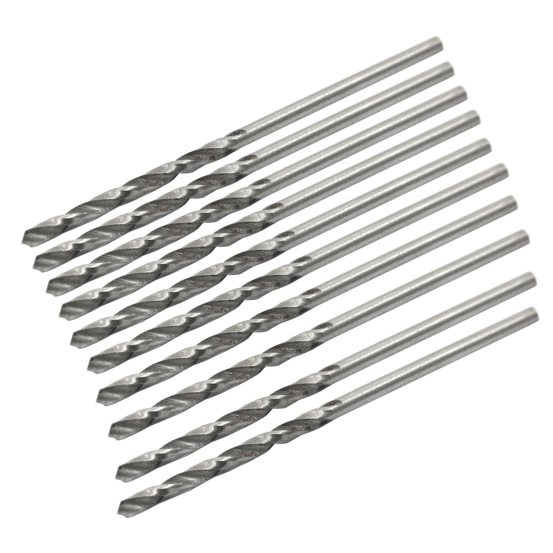High Speed Steel 1.6mm Dia Split Point 45mm Long Twist Drill Bits 10 Pcs