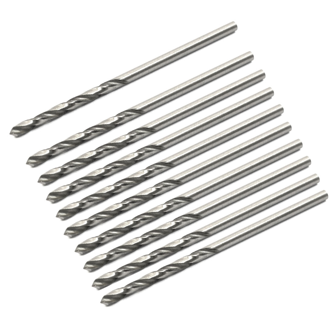 High Speed Steel 1.8mm Dia Split Point 46mm Long Twist Drill Bits 10 Pcs