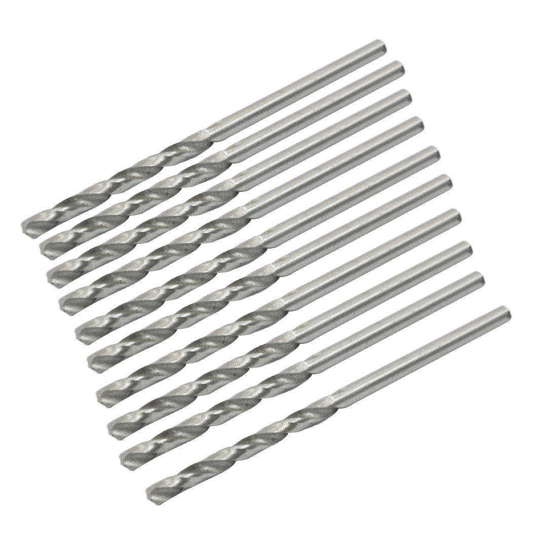 High Speed Steel 2.55mm Dia Split Point 58mm Long Twist Drill Bits 10 Pcs