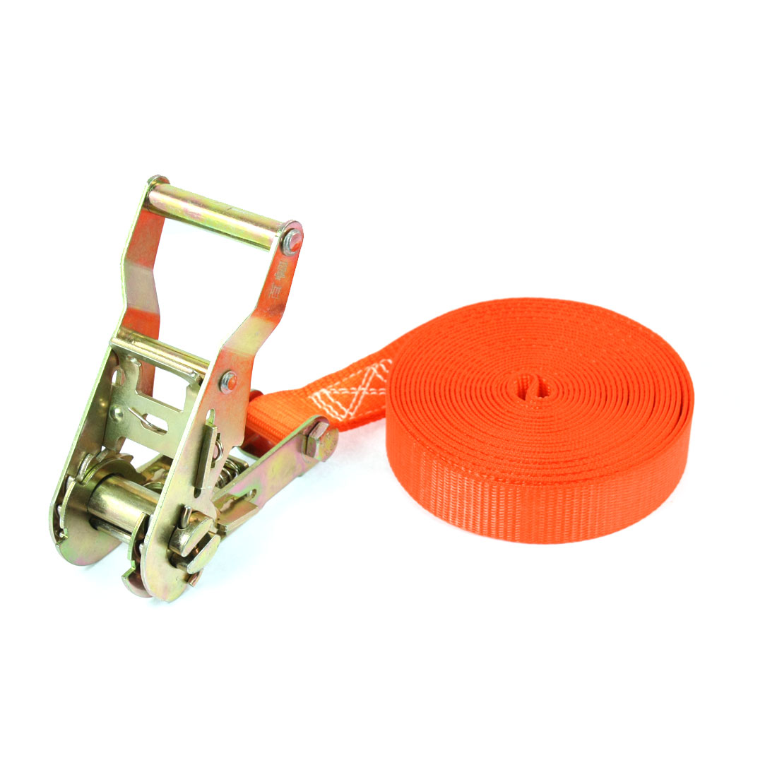 Travel Luggage Binding Band Metal Ratchet Tie Down Strap 5M 16ft Orange