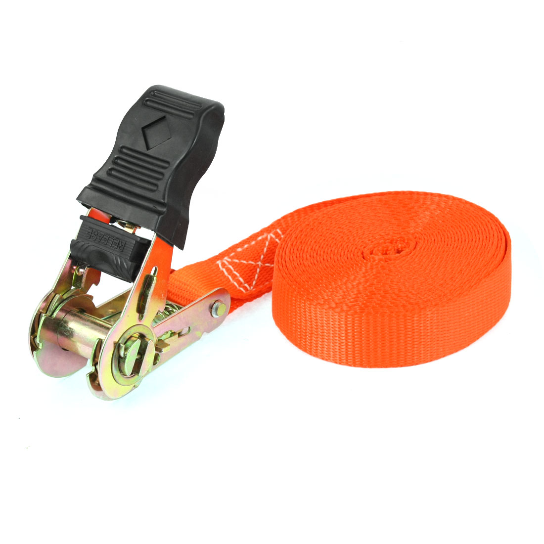 Self-driving Travel Luggage Binding Metal Ratchet Tie Down Strap 5M Orange