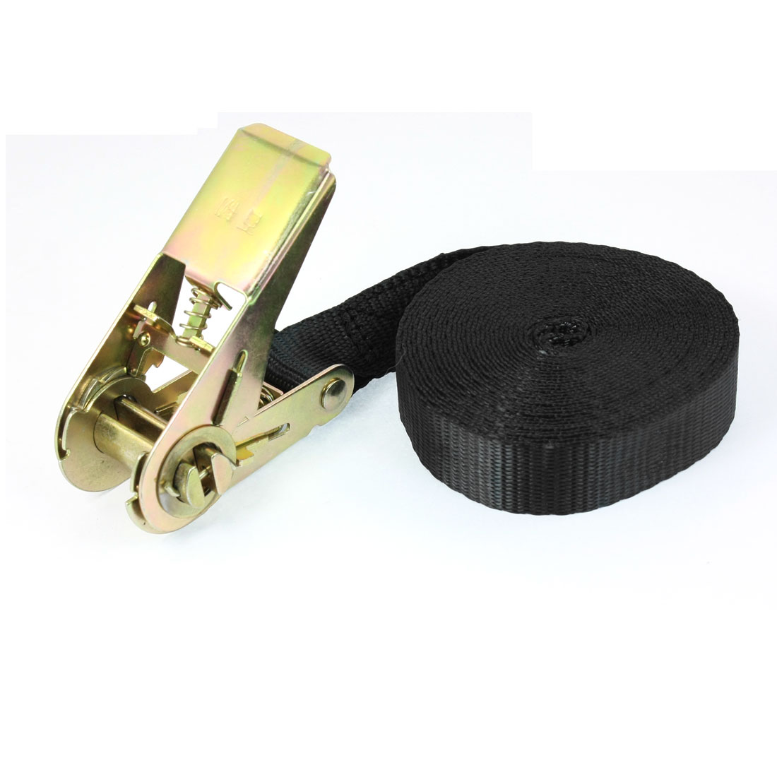 Travel Luggage Binding Band Metal Ratchet Tie Down Strap 5M 16ft Black