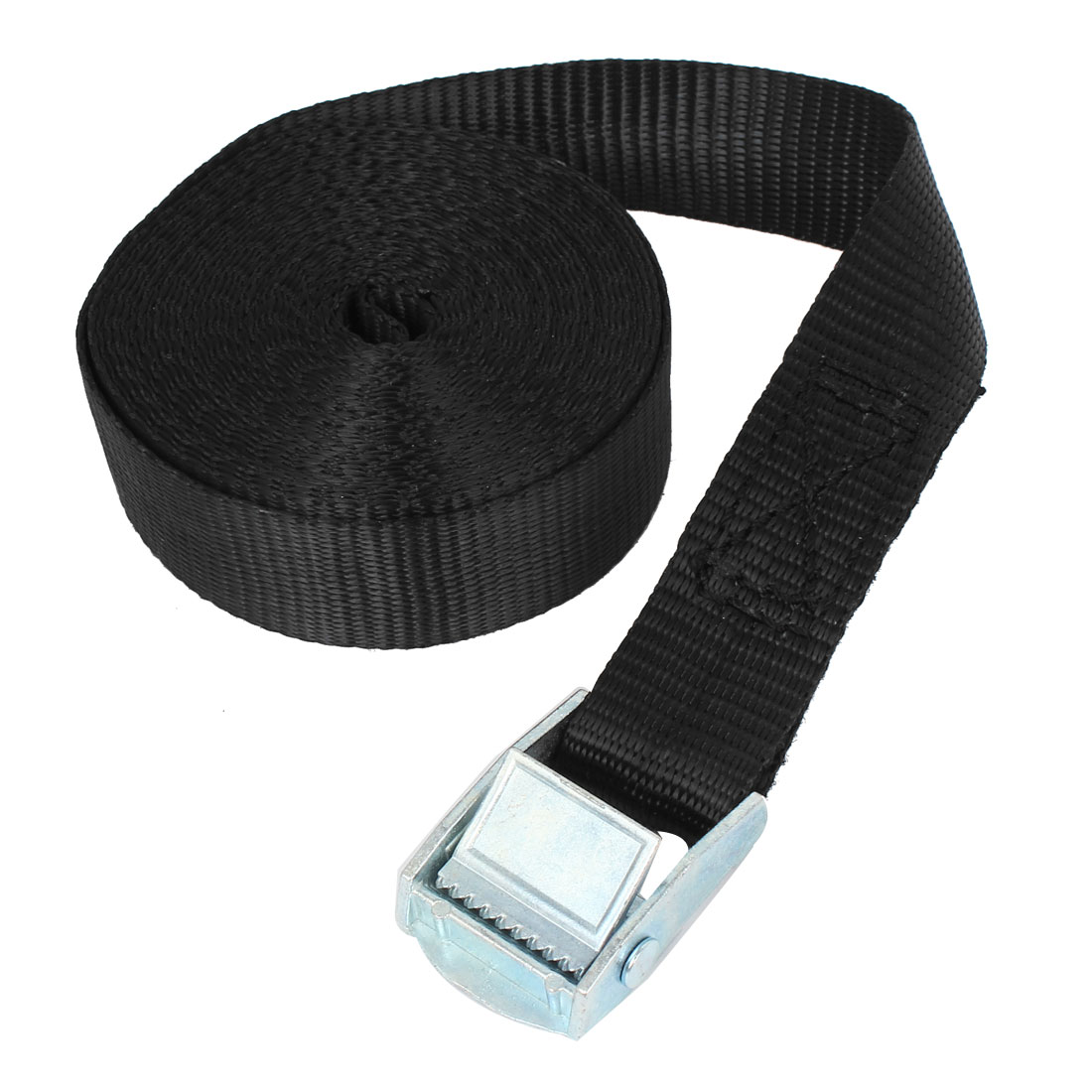 Travel Metal Cam Buckle Cargo Binding Band Tie Down Strap 5M 16ft Black