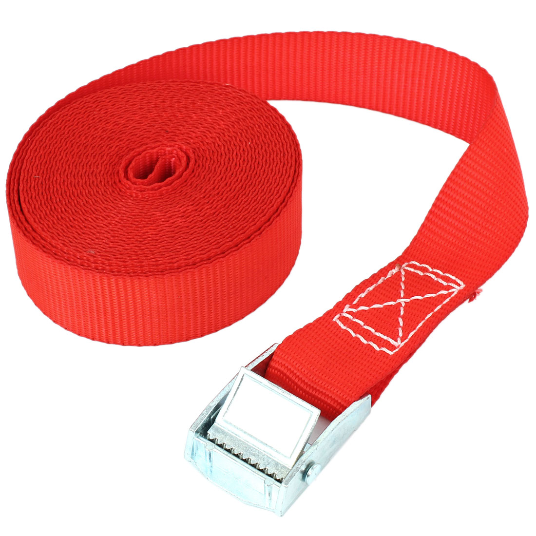 Travel Metal Cam Buckle Cargo Binding Band Tie Down Strap 5M 16ft Red