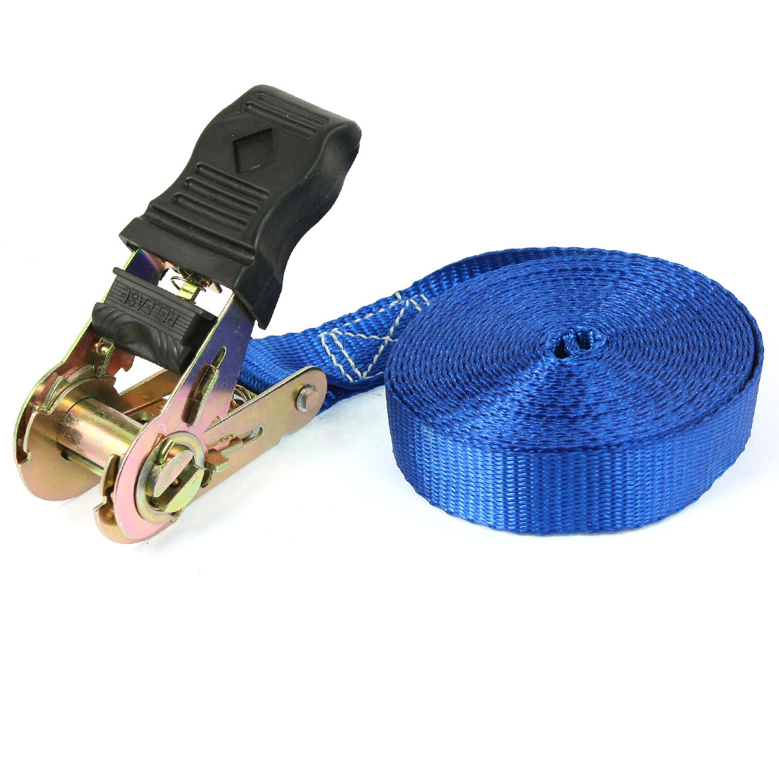 Self-driving Travel Luggage Binding Metal Ratchet Tie Down Strap 5M Blue