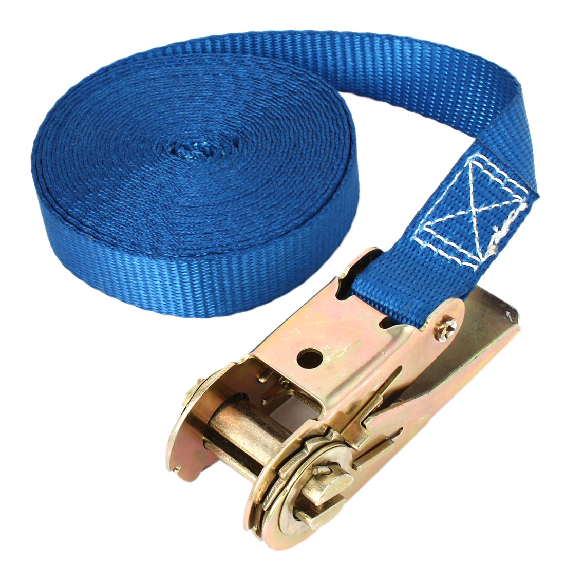 Travel Cargo Binding Band Metal Ratchet Tie Down Strap 5M 16ft Blue