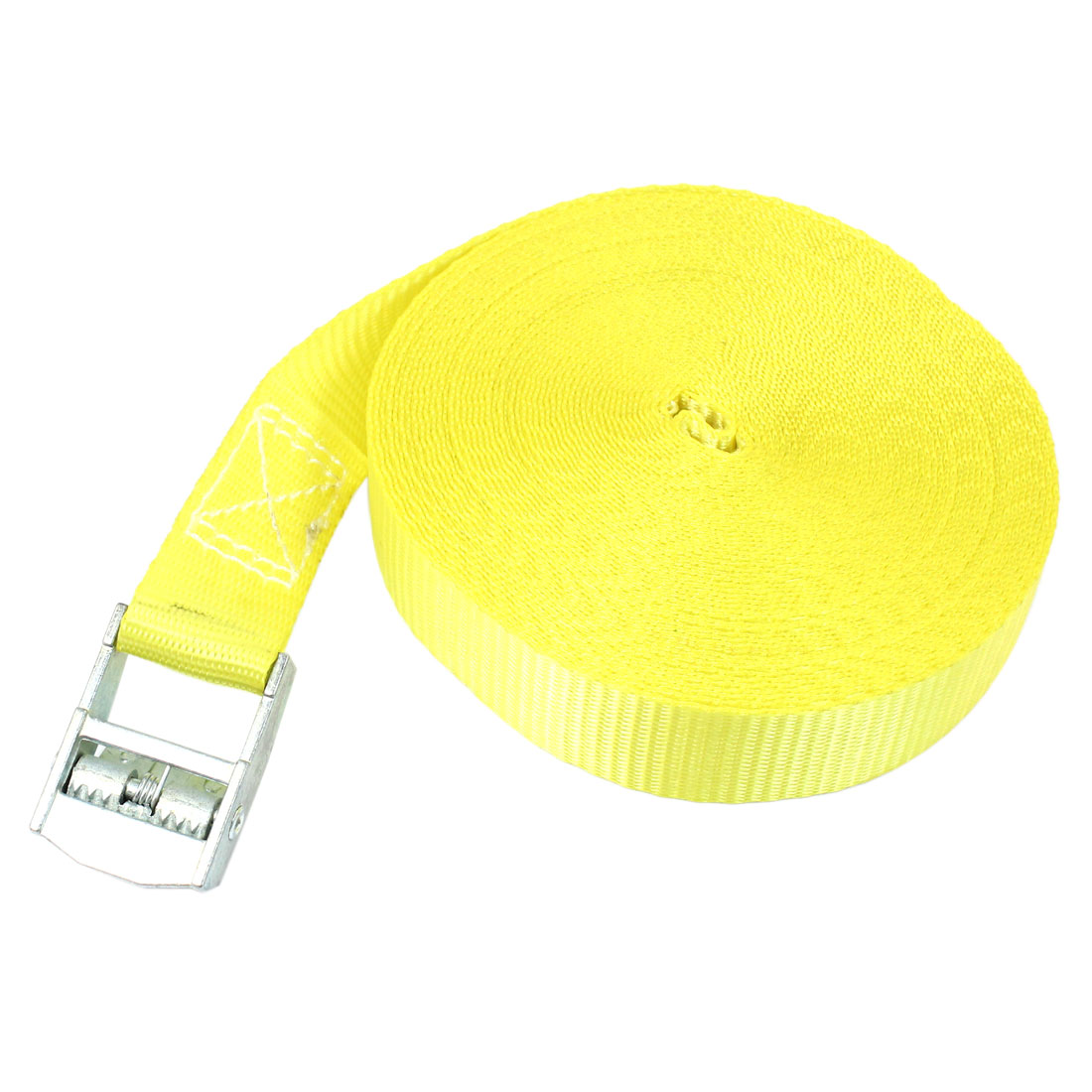 Travel Metal Cam Buckle Cargo Binding Band Tie Down Strap 10M 33ft Yellow