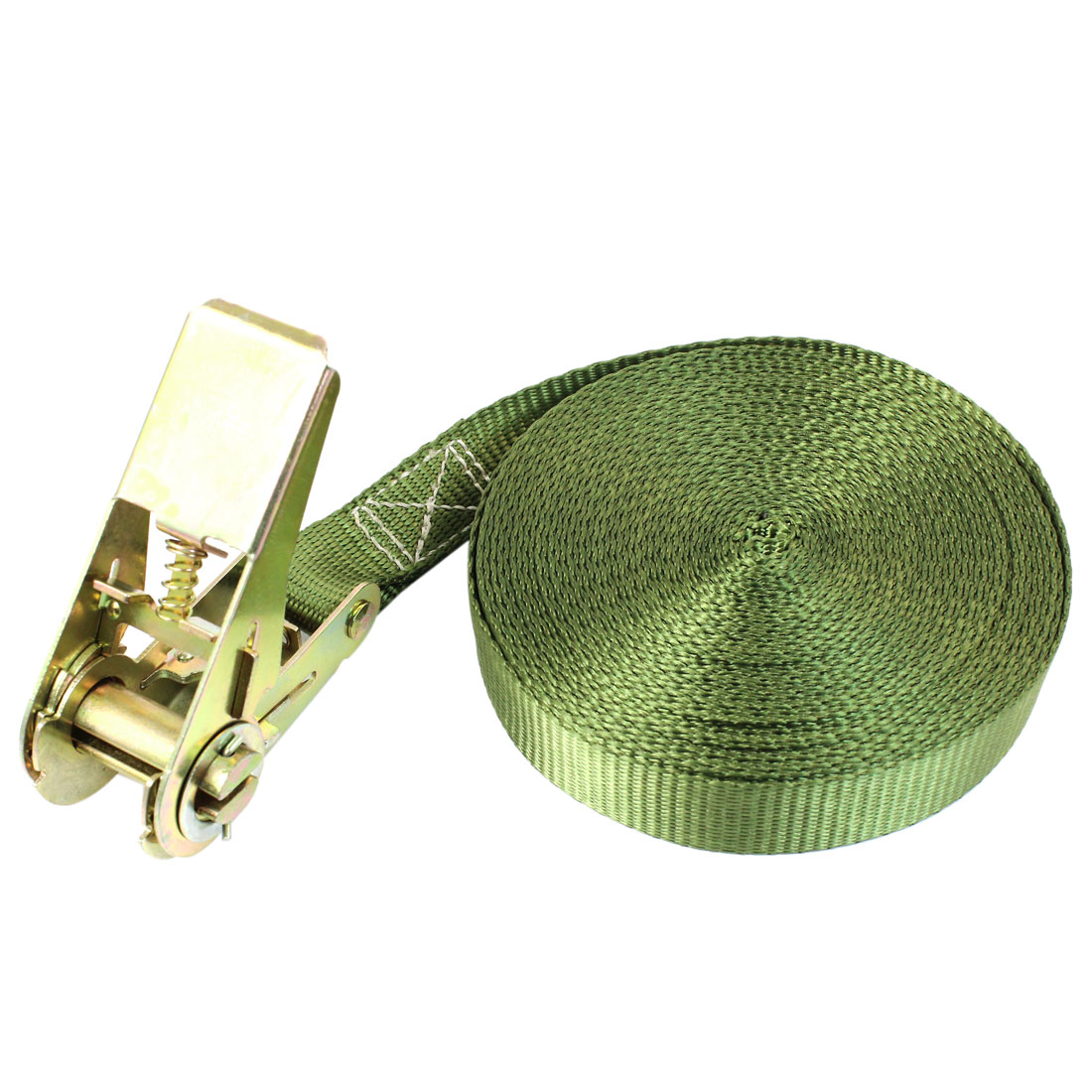 Travel Luggage Binding Band Metal Ratchet Tie Down Strap 10M 33ft Green