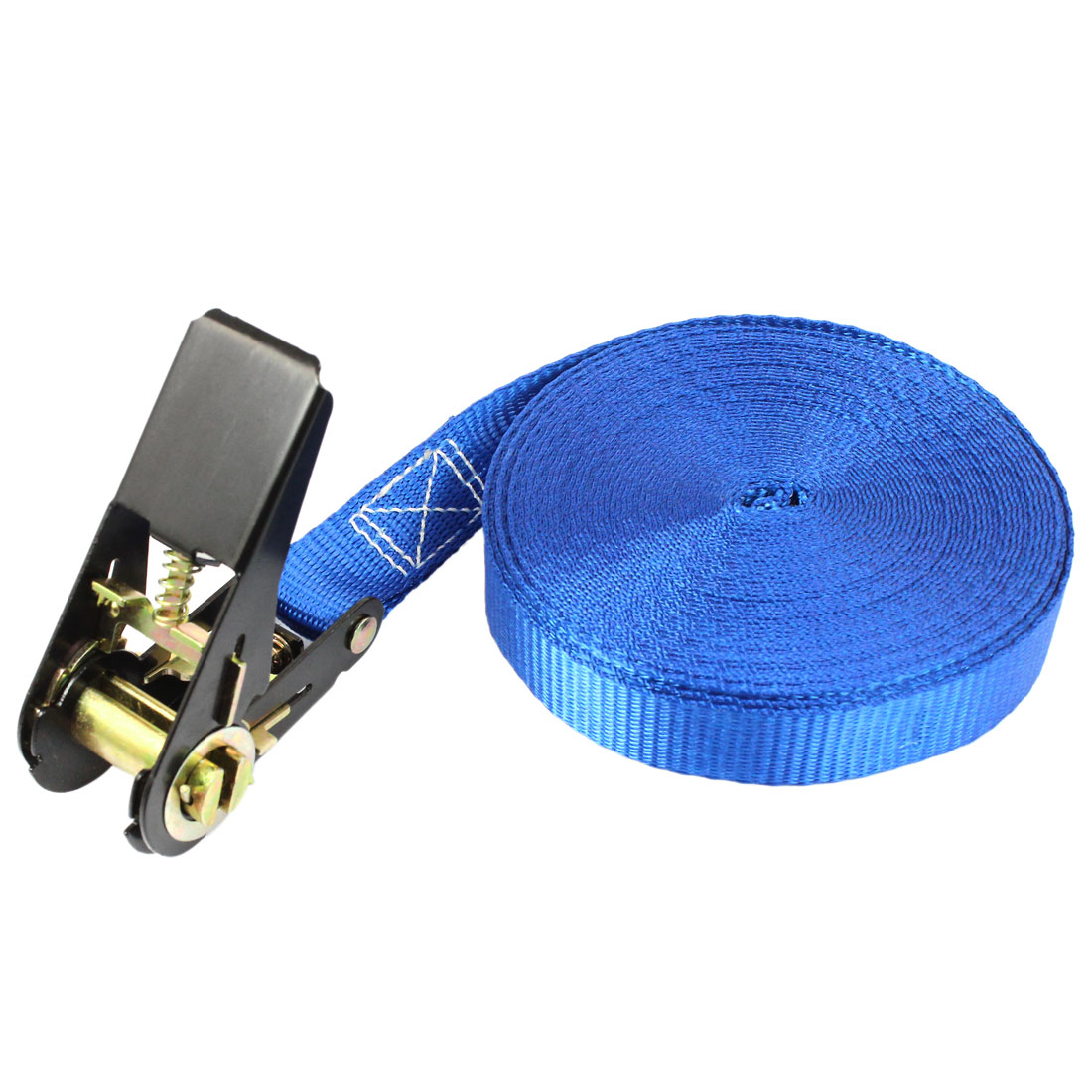 Travel Cargo Binding Band Black Ratchet Tie Down Strap 10M 33ft Blue