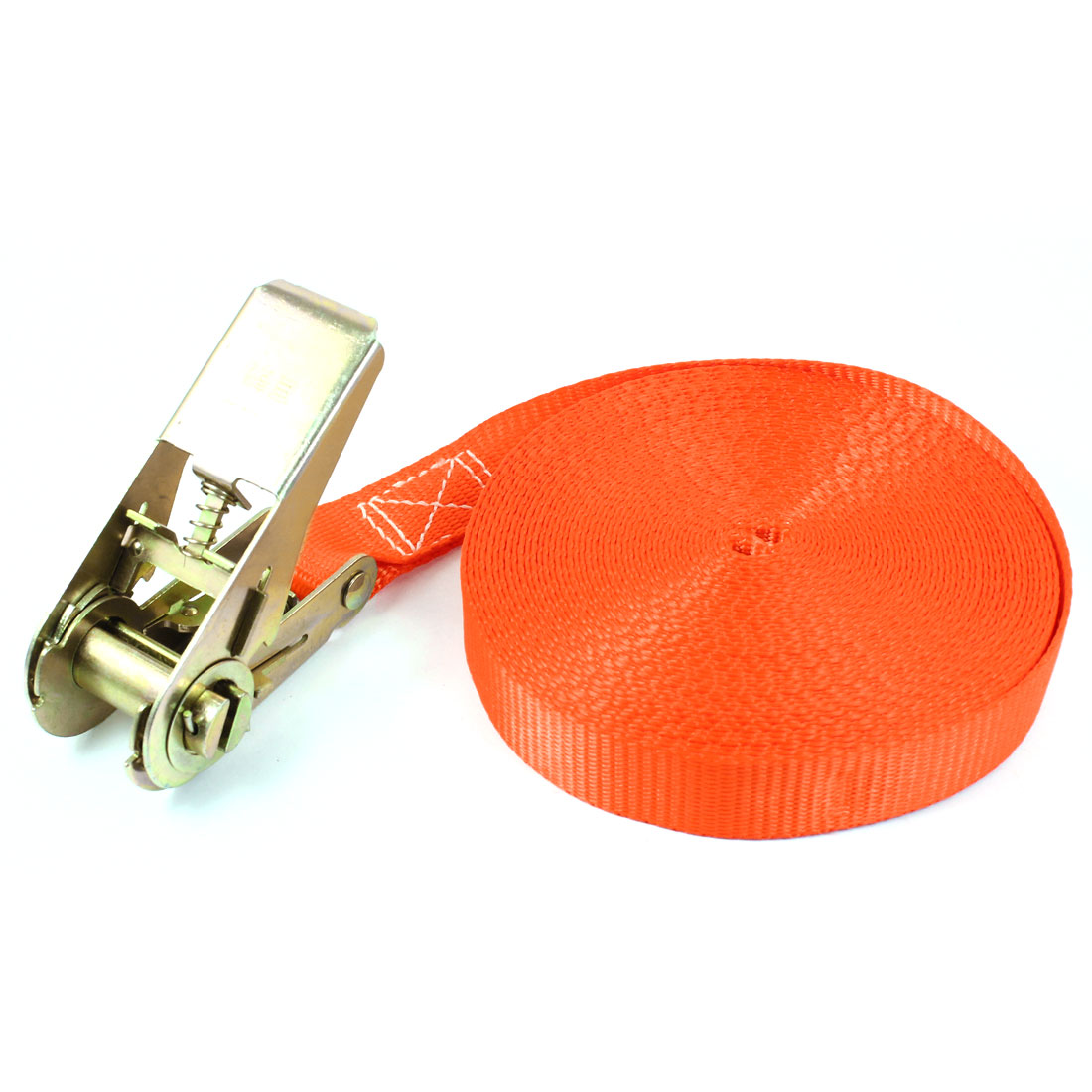 Travel Luggage Binding Band Metal Ratchet Tie Down Strap 10M 33ft Orange