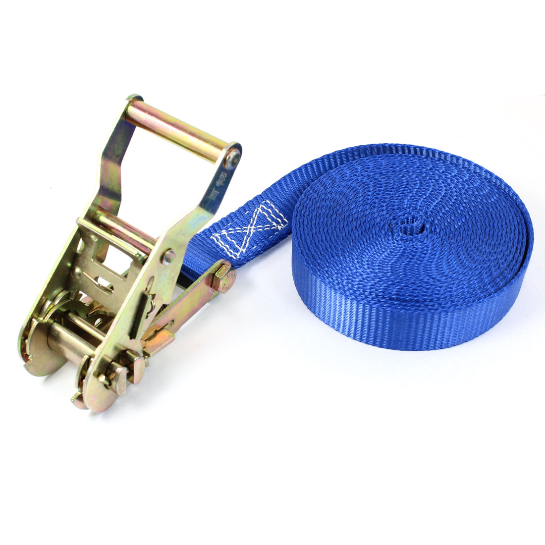 Travel Luggage Binding Band Metal Ratchet Tie Down Strap 5M 16ft Blue