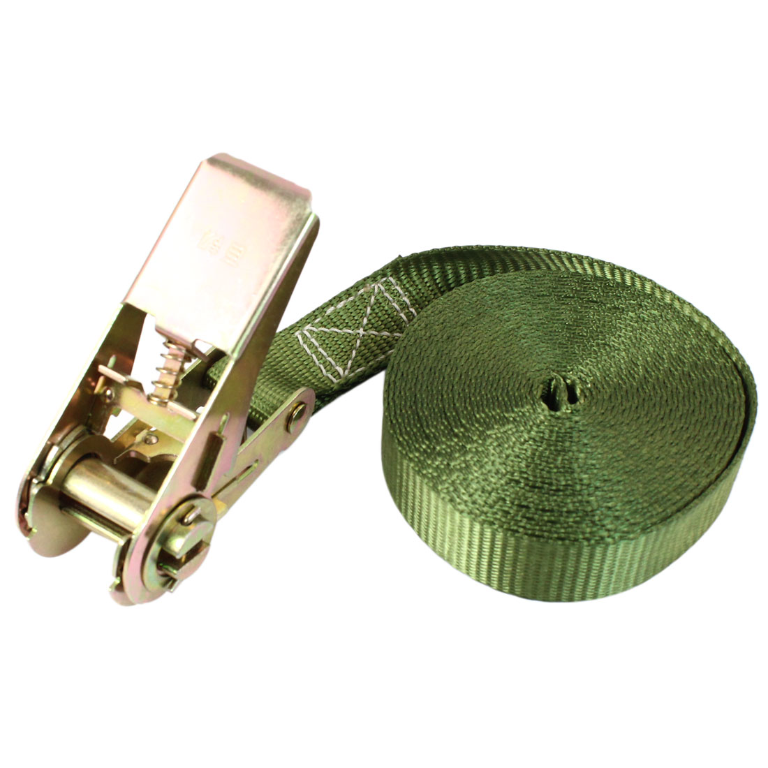 Travel Luggage Binding Band Metal Ratchet Tie Down Strap 5M 16ft Green