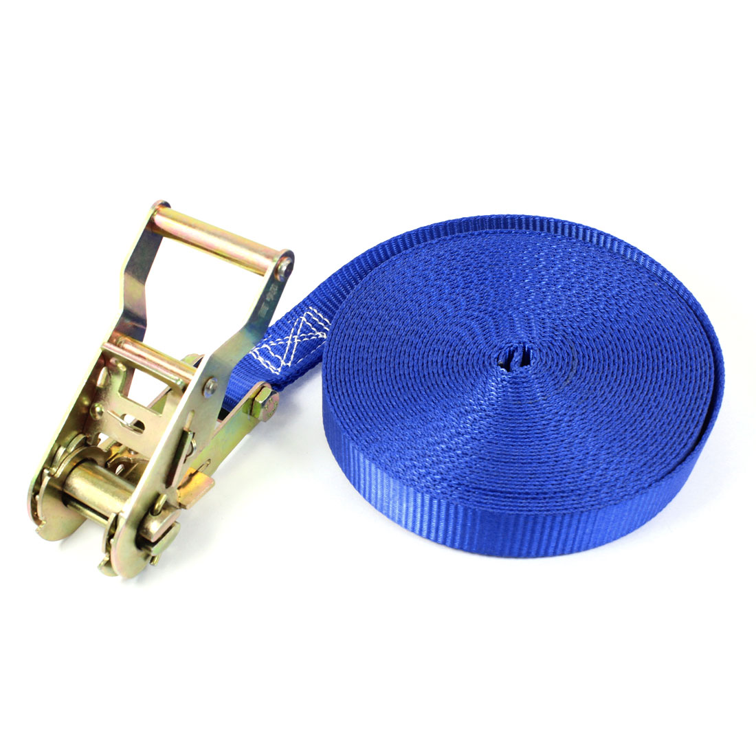 Travel Luggage Binding Band Metal Ratchet Tie Down Strap 10M 33ft Blue