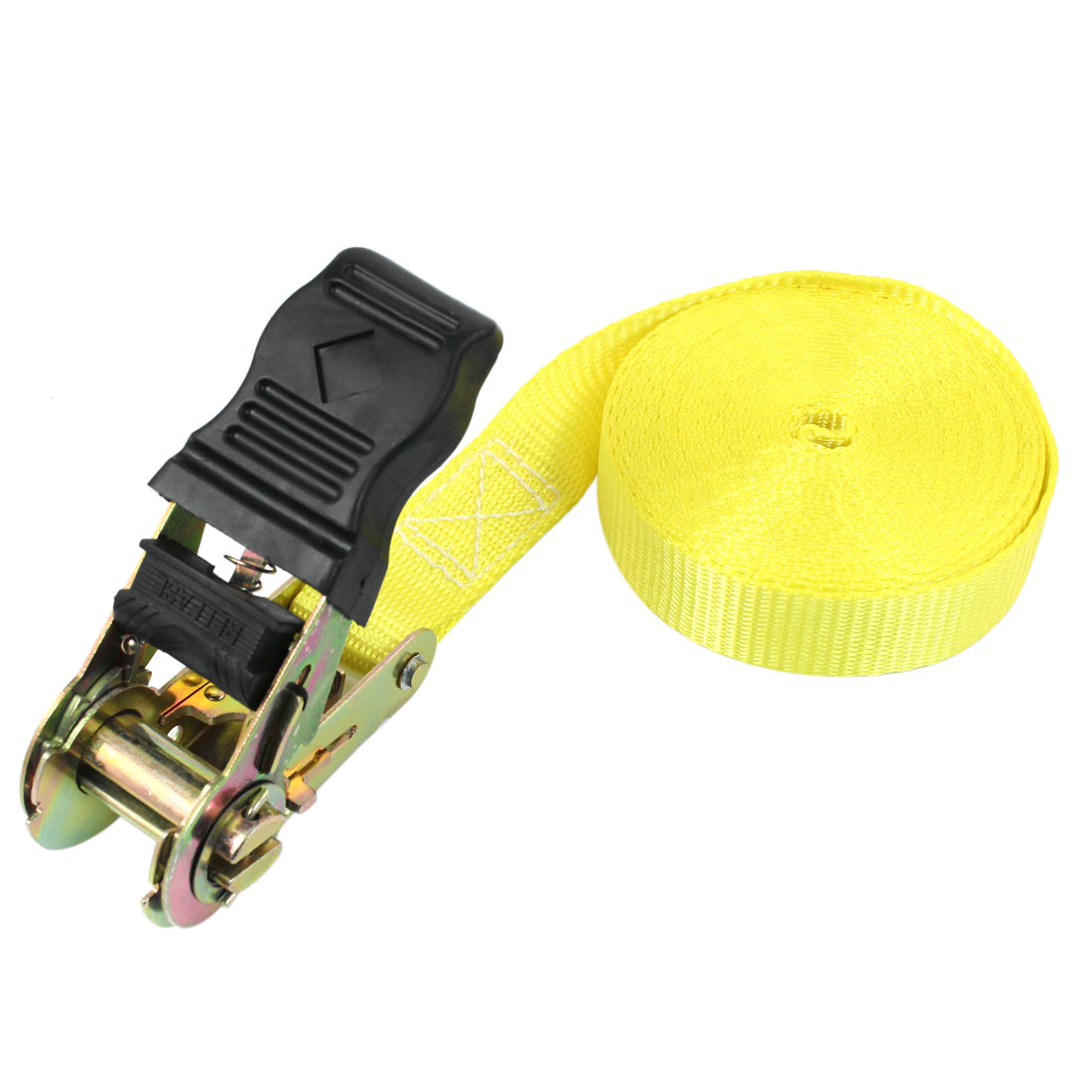Self-driving Travel Luggage Binding Metal Ratchet Tie Down Strap 5M Yellow