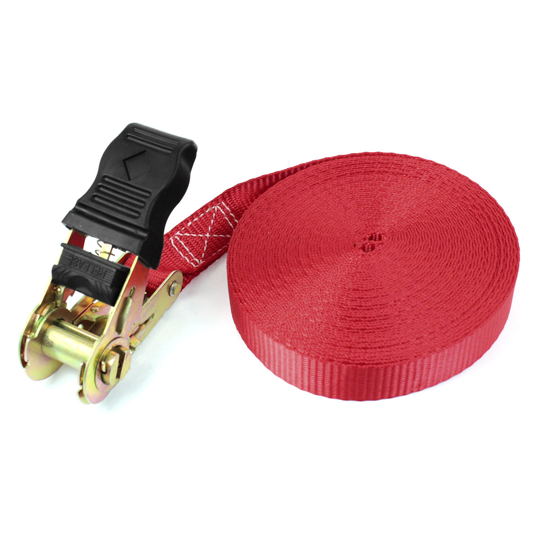 Self-driving Travel Luggage Binding Metal Ratchet Tie Down Strap 10M Red