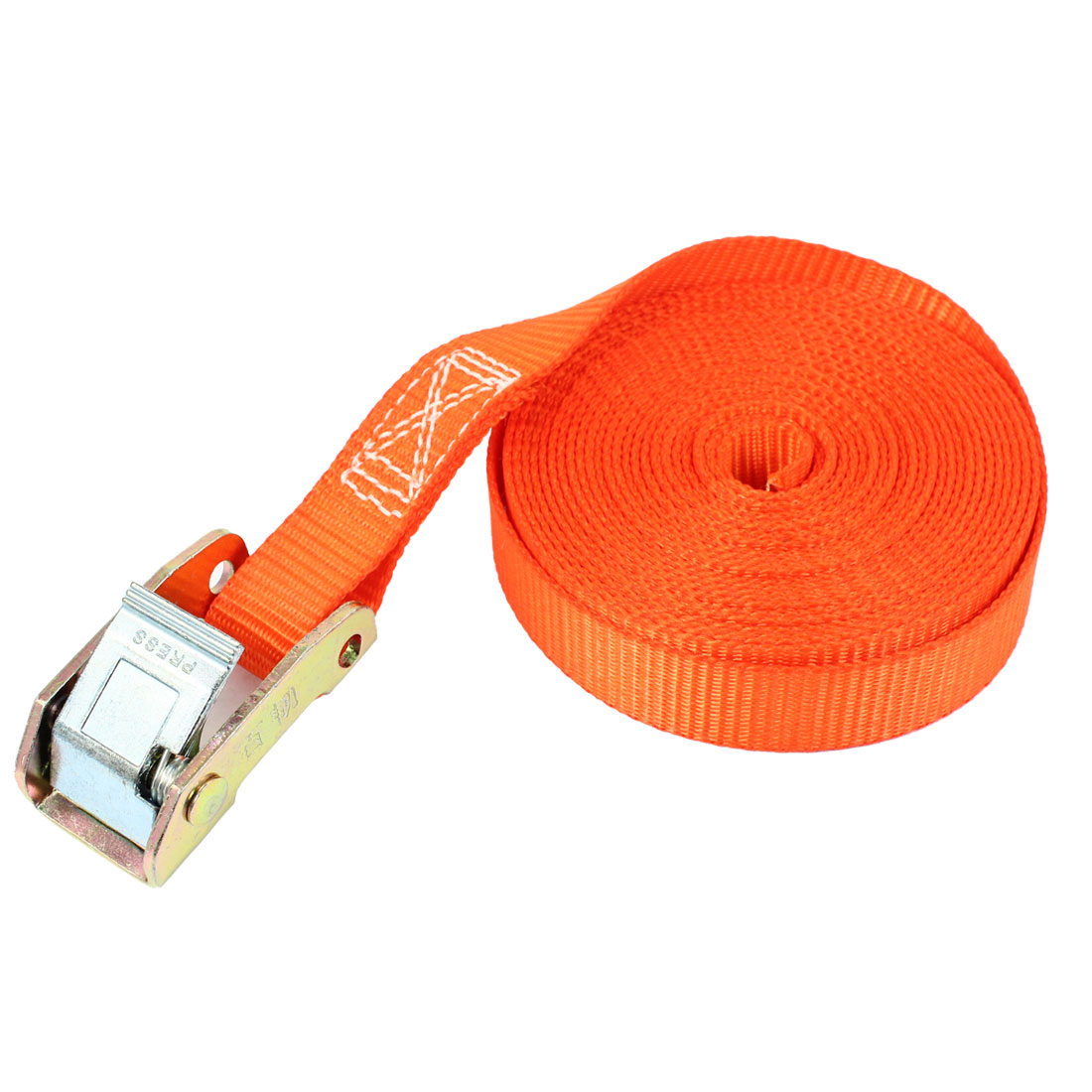 Travel Metal Cam Buckle Cargo Binding Band Tie Down Strap 5M 16ft Orange