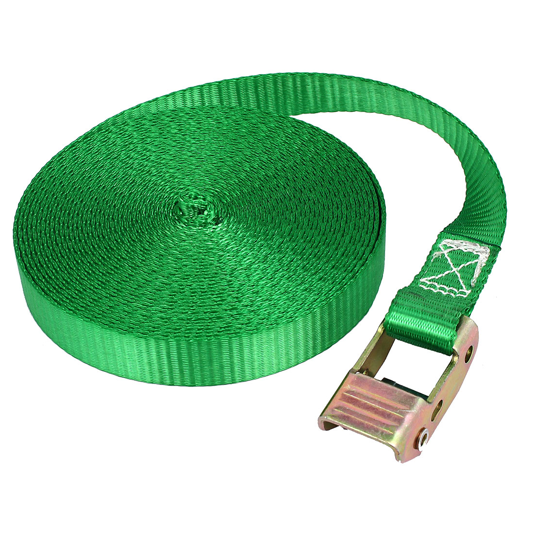 Travel Metal Cam Buckle Cargo Binding Band Tie Down Strap 10M 33ft Green