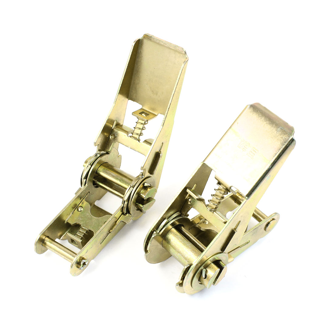 2pcs Bronze Tone Metal Ratchet Buckle for 25mm Width Tie Down Strap
