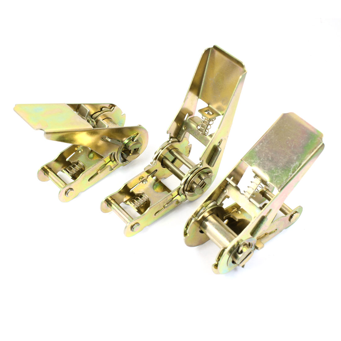 3pcs Bronze Tone Metal Ratchet Buckle for 25mm Width Tie Down Strap