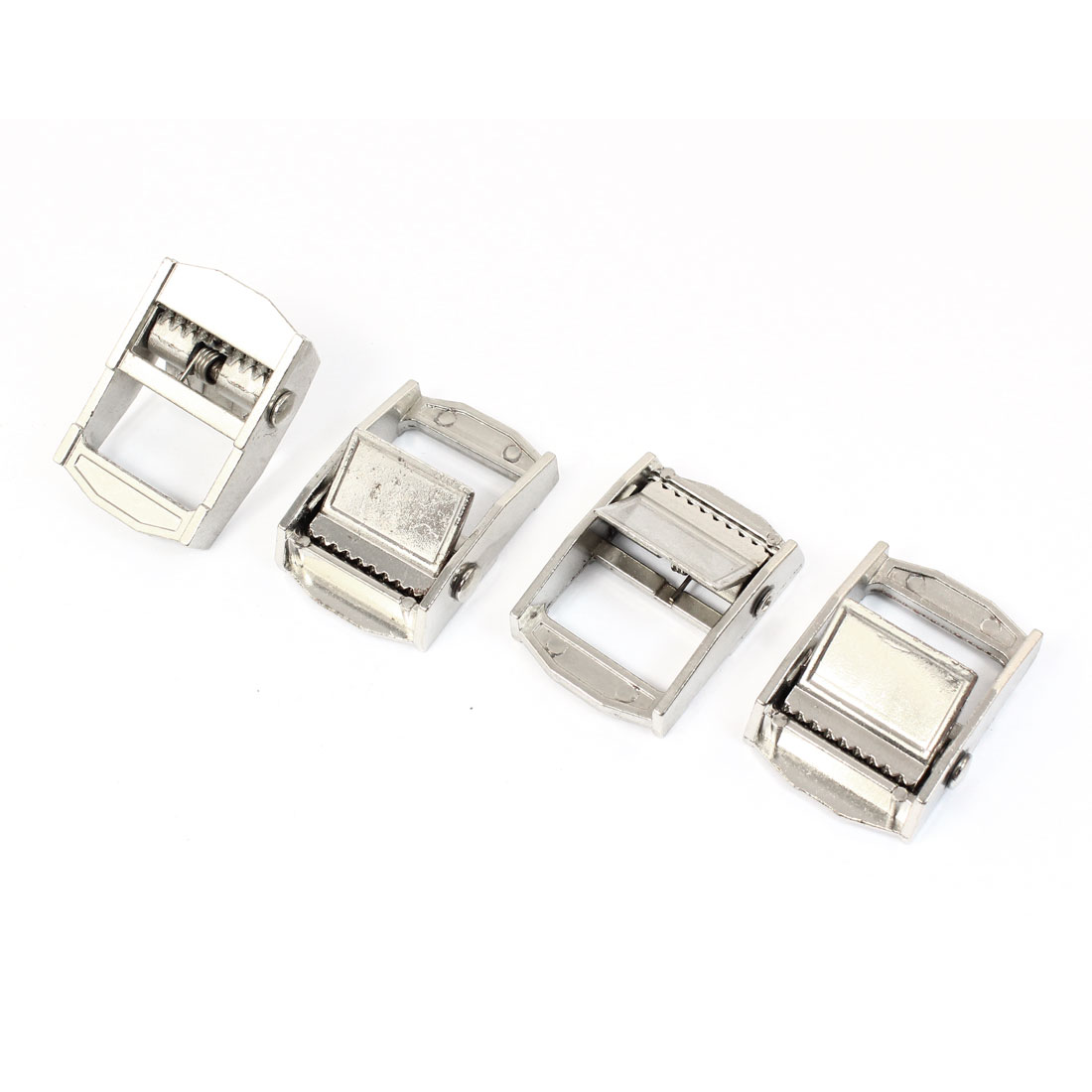 "4pcs Silver Tone Zinc Alloy Cam Buckle for 1"" Tie Down Strap"