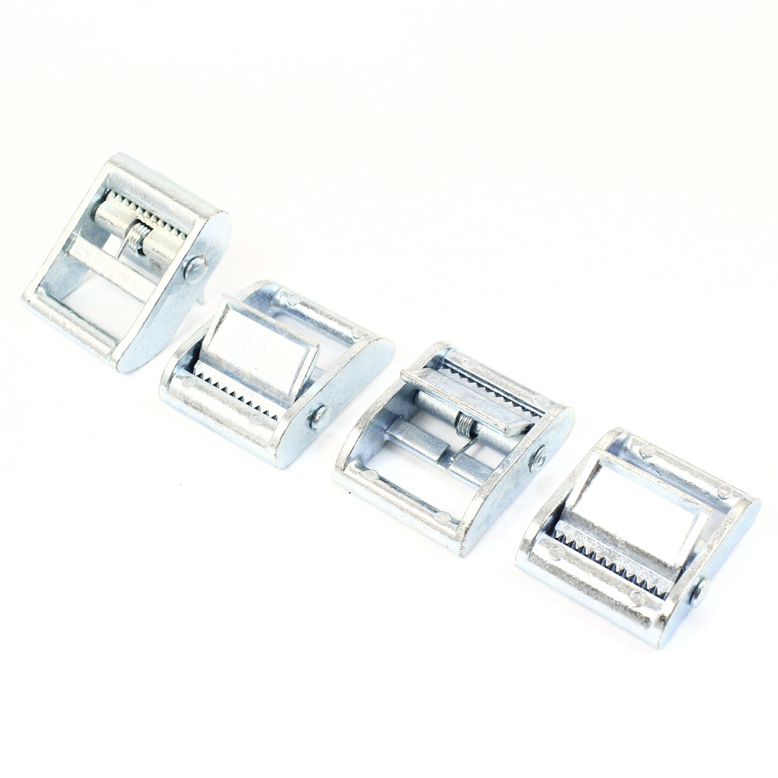 4pcs Silver Tone Zinc Alloy Cam Buckle for 25mm Tie Down Strap