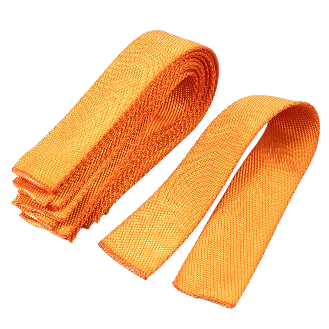 Sleeve Style 4.2cm Width Orange Nylon Bundle Strap Webbing Protector 10pcs
