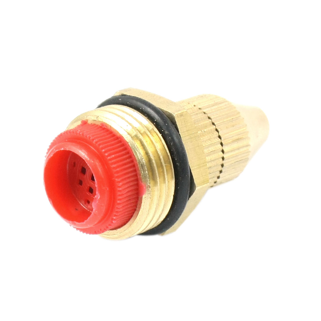 Gardening 20mm Male Thread Dia Water Spray Nozzle Brass Tone