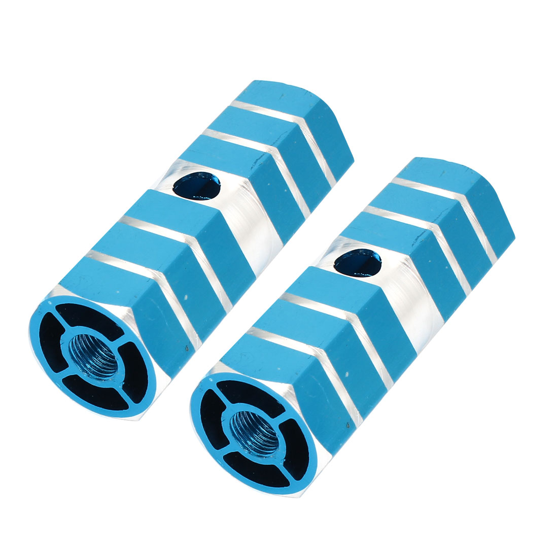 2 Pcs Blue Aluminum Nonslip Axle Foot Pegs For BMX Mountain Bike Bicycle Cyling