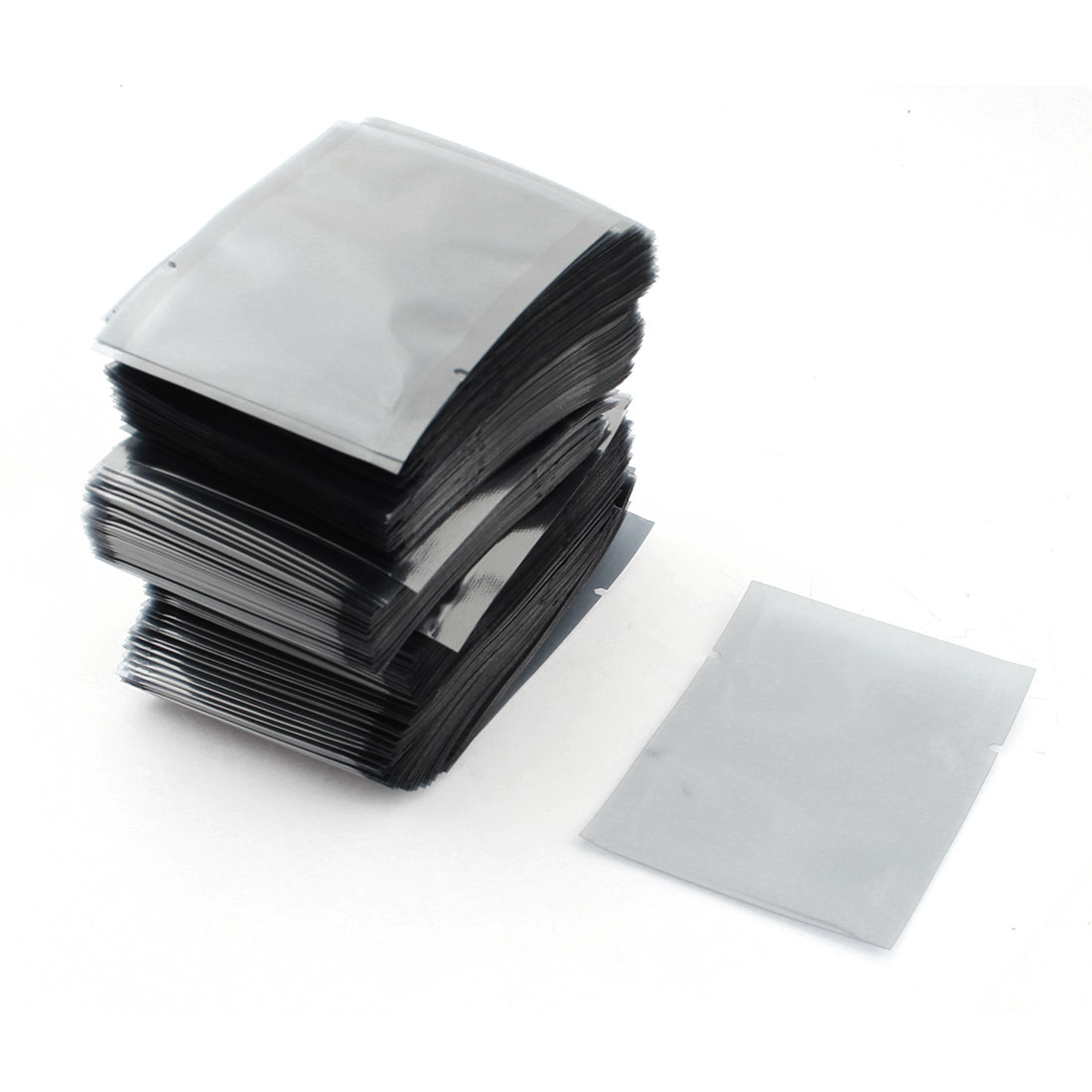 500pcs 6x8cm Rectangle Open Top Clear Gray Plastic Anti Static Shielding Bag Packagings Protector for PCB Board