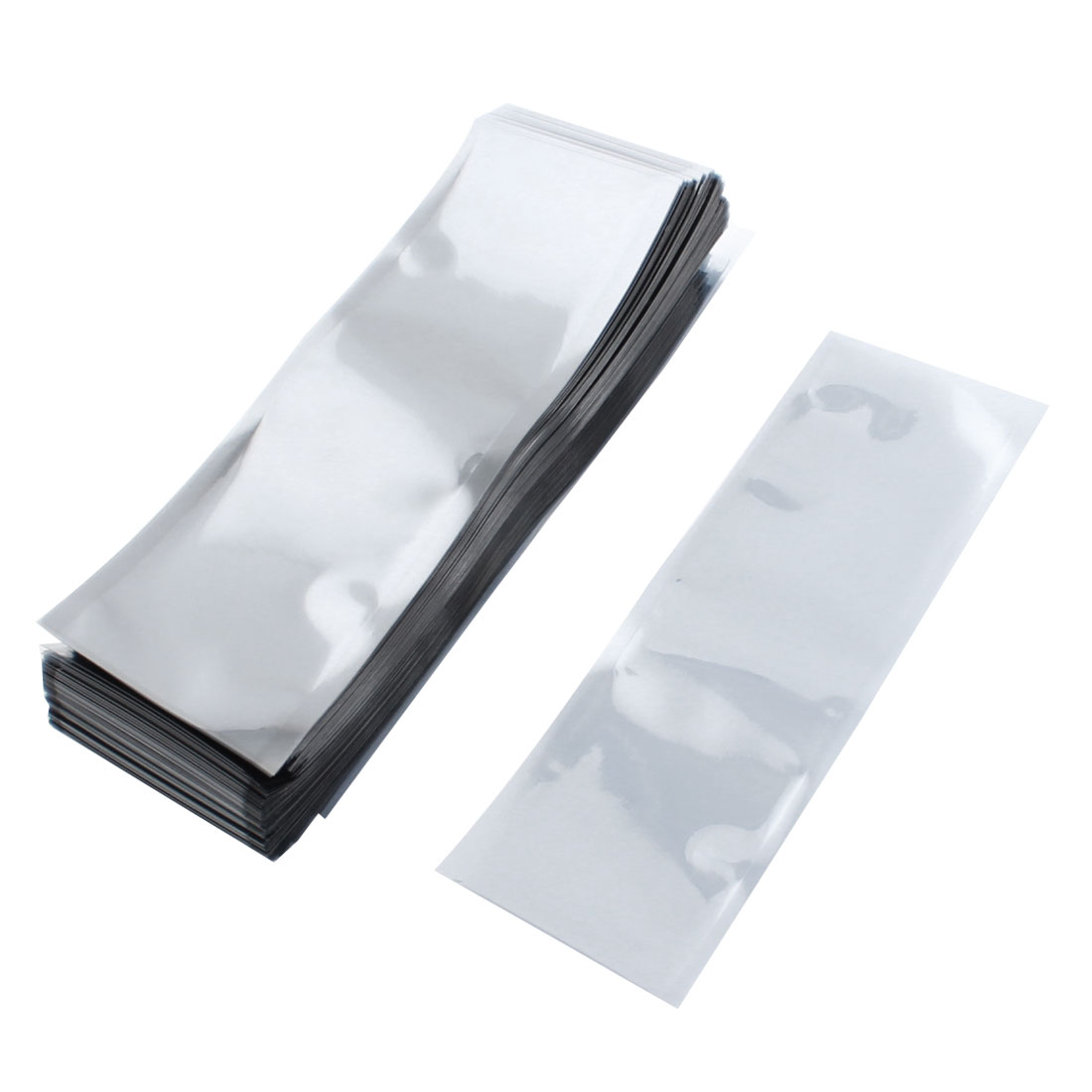 200pcs 6cmx18cm Rectangle Open Top Clear Gray Plastic Anti-static Shielding Bags Packagings Protectors for PCB Board