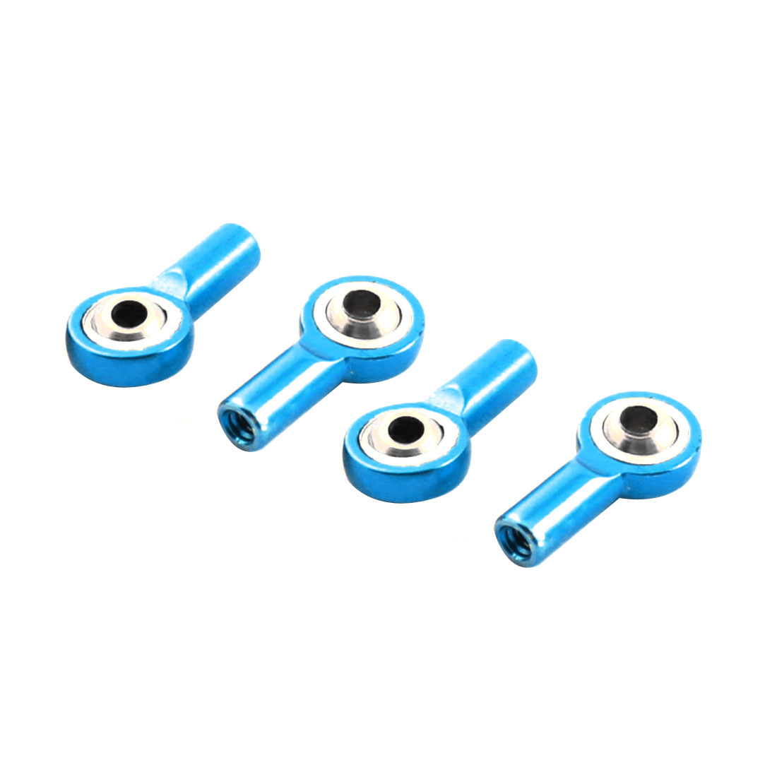 4Pcs Blue Rod End Spherical Brass Pivot Ball Joints Links Connectors M2 2x3.5x15mm for RC Climbing Car