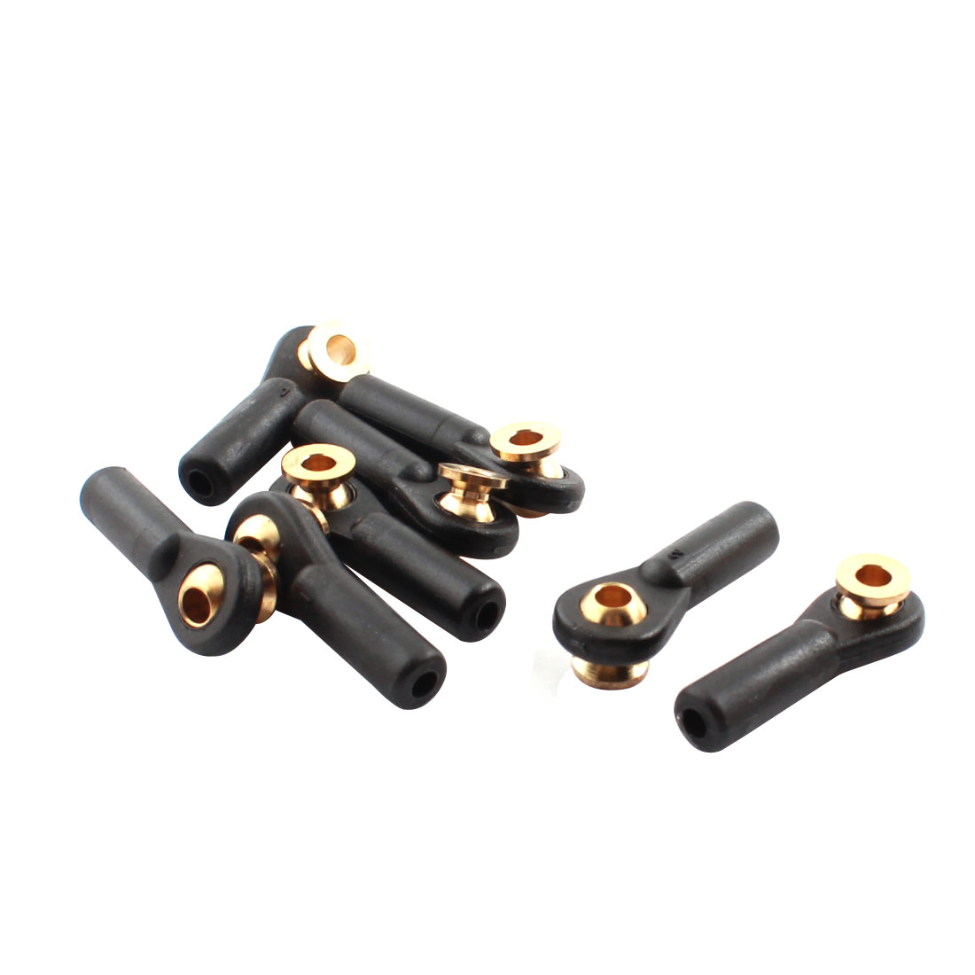 8Pcs RC Car Spare Parts Tie Rod Ends Brass Ball Link 3x3x27mm