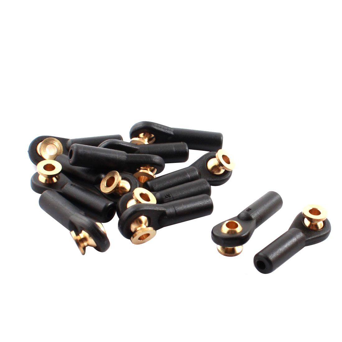 12Pcs RC Car Spare Parts Tie Rod Ends Brass Ball Link 3x3x27mm