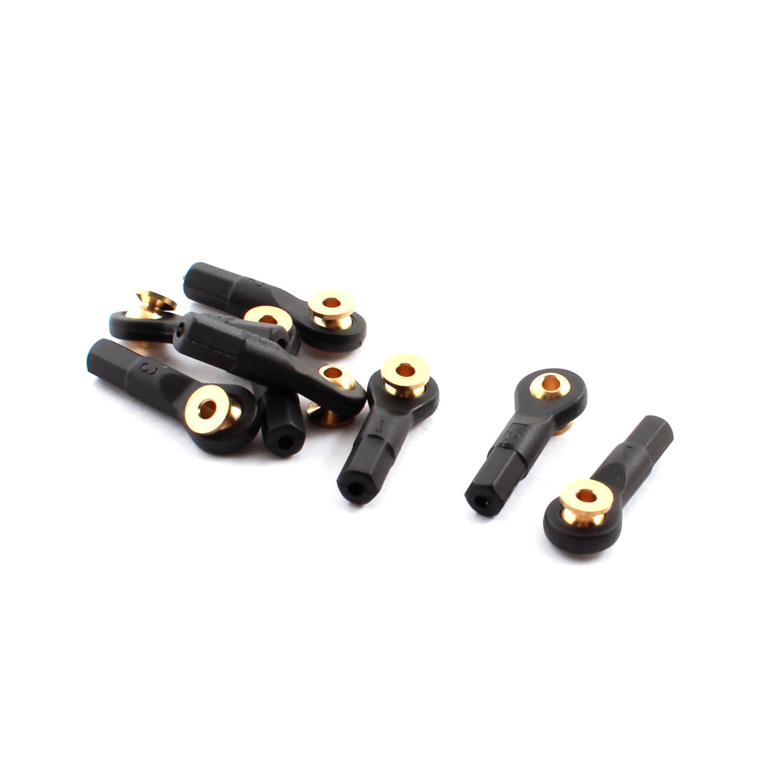 8Pcs RC Car Spare Parts Tie Rod Ends Brass Ball Link 2x2x24mm