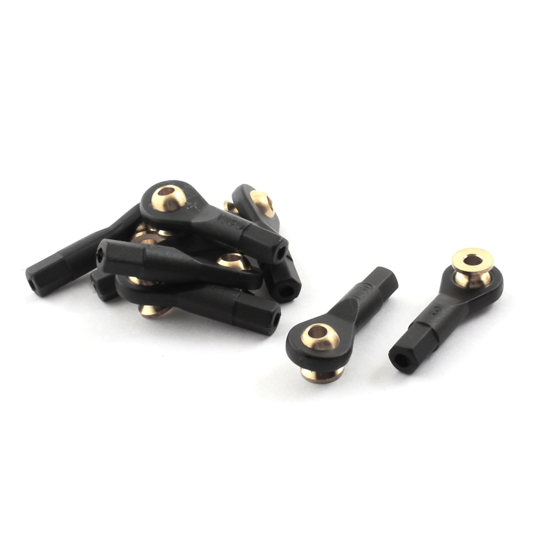 8Pcs RC Car Spare Parts Tie Rod Ends Brass Ball Link 3x3x30mm
