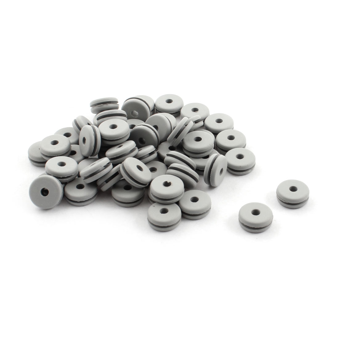 50Pcs RC Spare Parts Canopy Rubber Grommet 2.8x5.5x11x4.5mm for 600 Size Helicopter