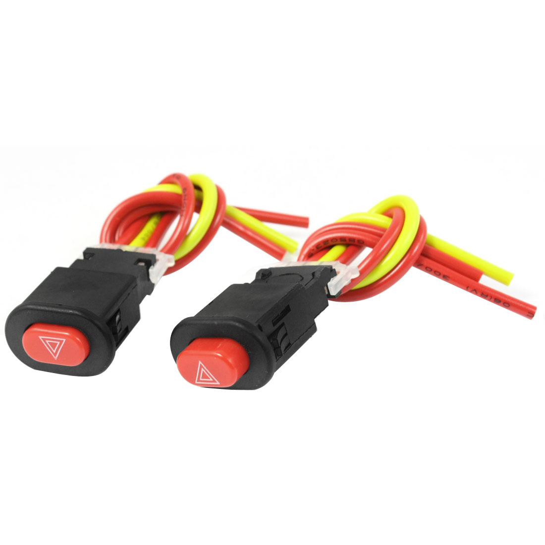 2PCS Red Button Wired Latching Type Light Switch Controller for Motorcycle