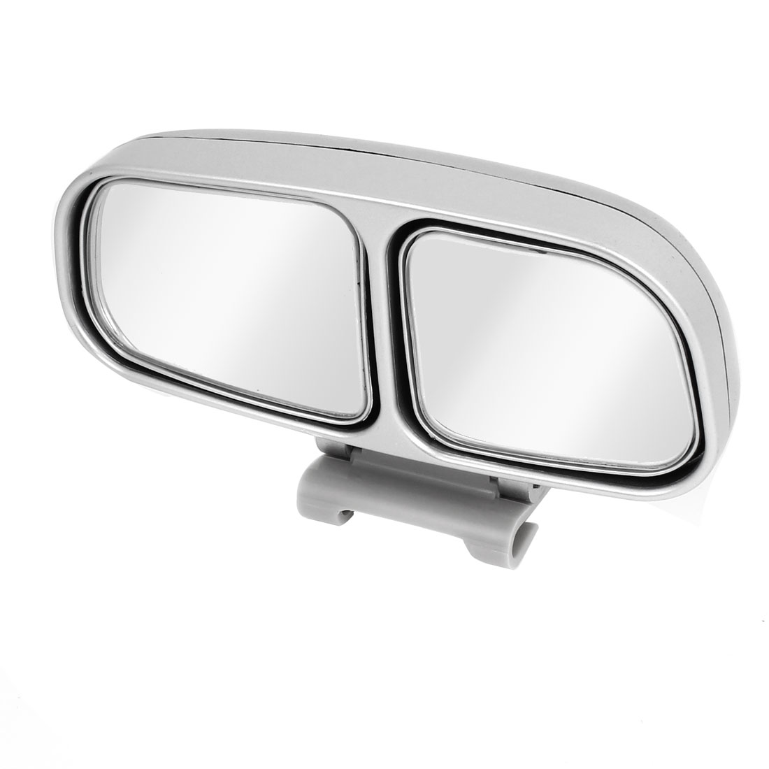 Silver Tone Frame Left Side Rear View Blind Spot Auxiliary Mirror for Auto Car
