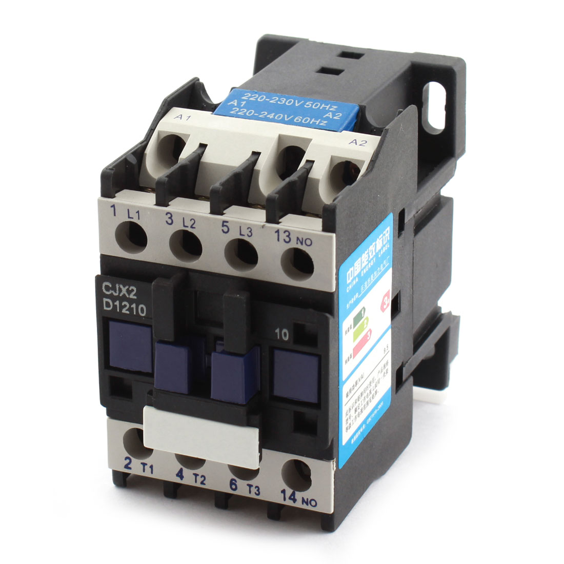 CJX2-12100 35mm DIN Rail Mounting 3-Phase Electric Power AC Contactor AC220V Coil Voltage