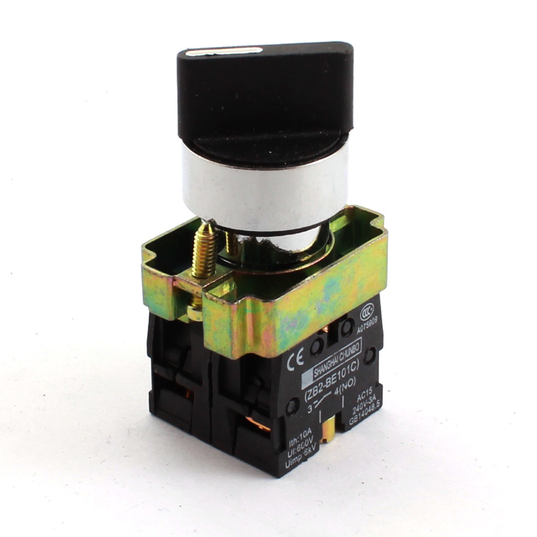 600V 10A DPST 2NO Self-locking 3 Position Control Rotary Switch Selector