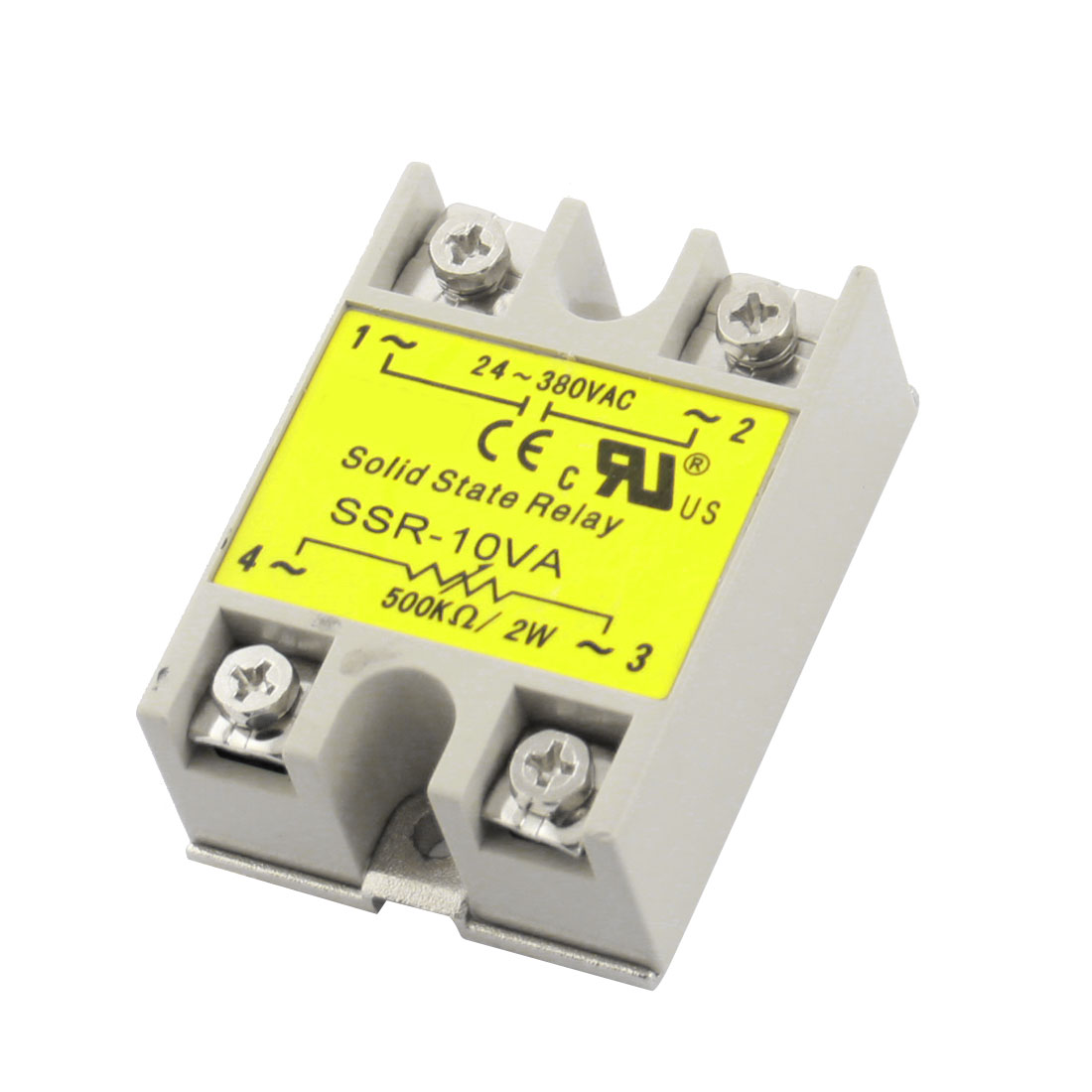 SSR-10VA AC24-380V Output 500K Ohm/2W Input 10VA Single Phase Resistance Type Adjustable Solid State Relay