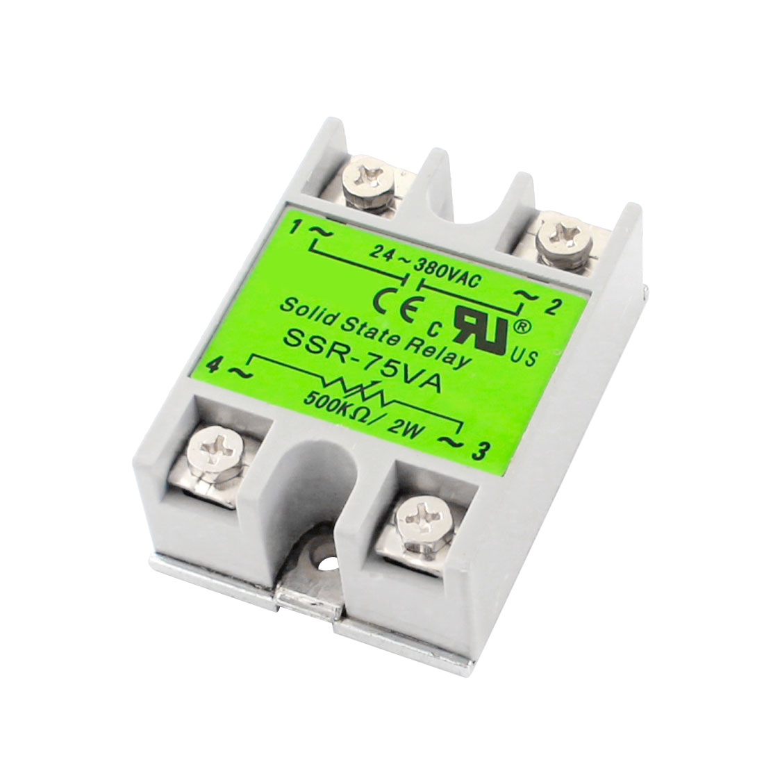 SSR-75VA AC24-380V 500K Ohm/2W 75VA Metal Base Single Phase Resistance Type Adjustable Solid Module State Relay