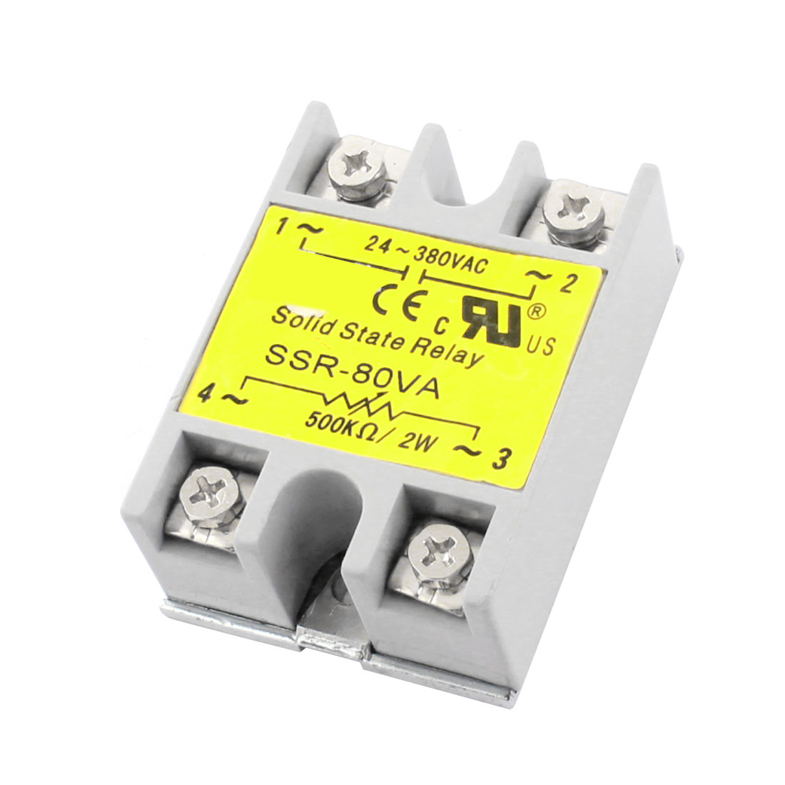 SSR-80VA AC24-380V Output 500K Ohm/2W Input Metal Base Single Phase Resistance Type Adjustable Solid State Relay